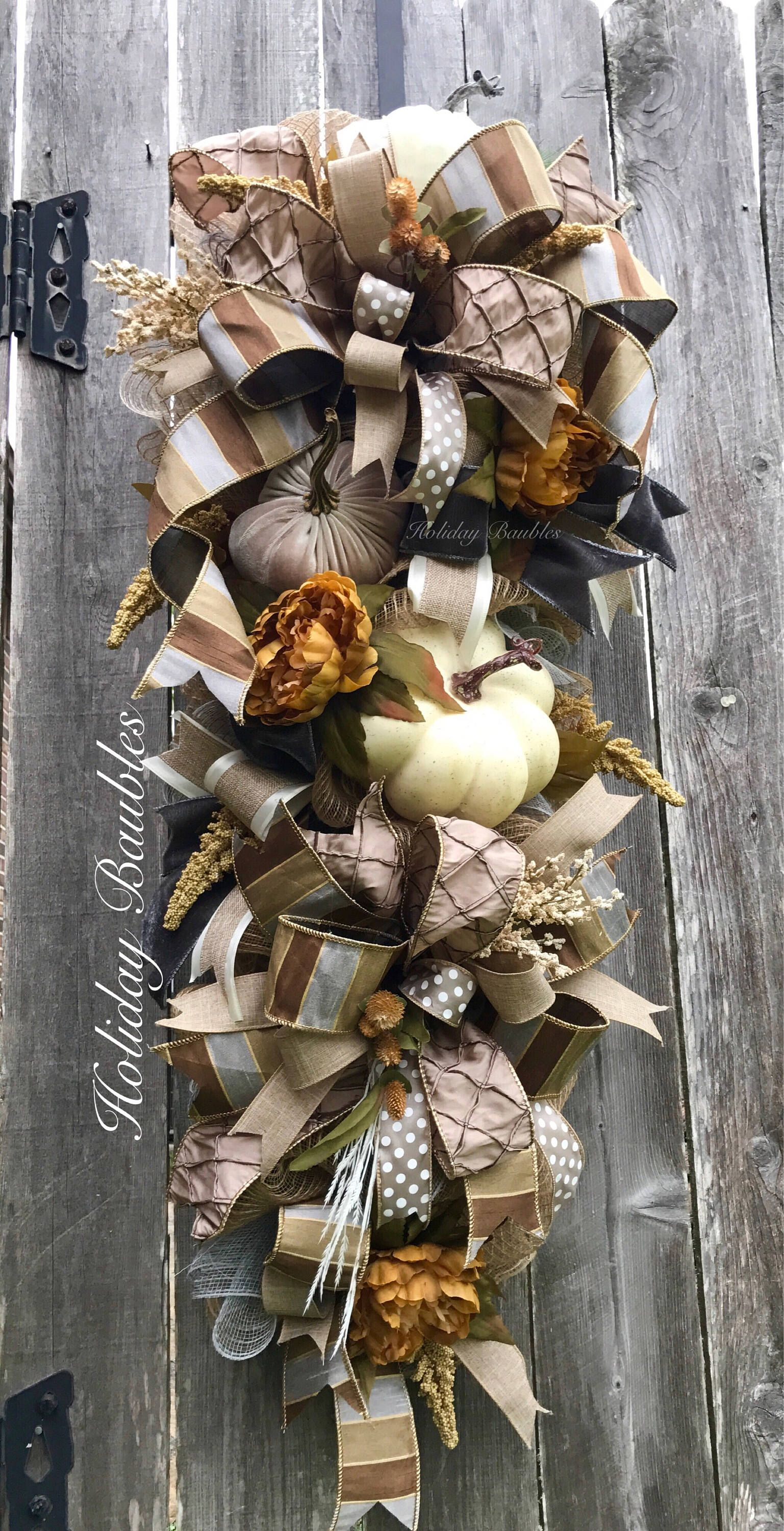 Pin By Ruby S Kreations On Holiday Decor Fall Swags