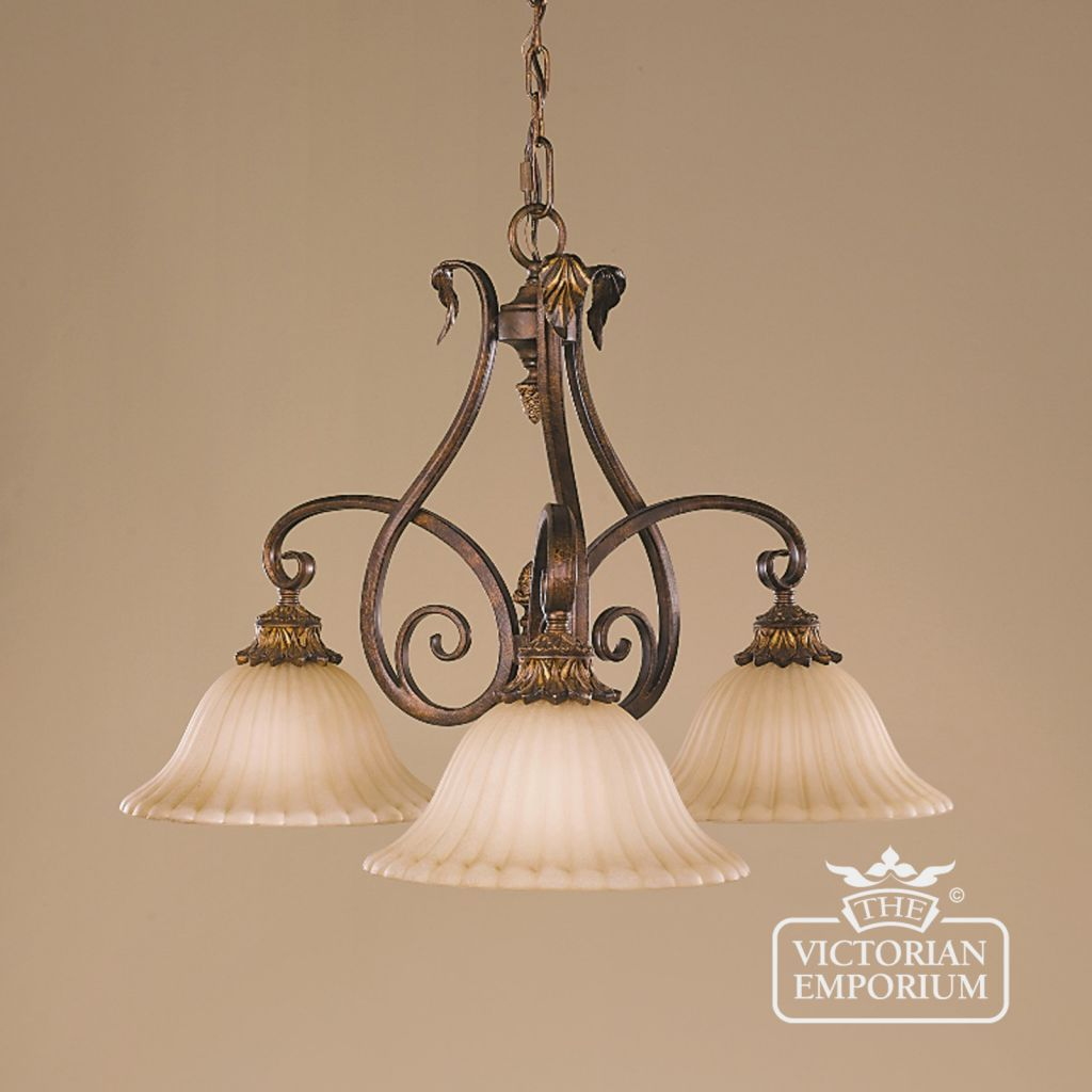 Sonoma 3 shade ceiling downlight - Interior ceiling and hanging lights