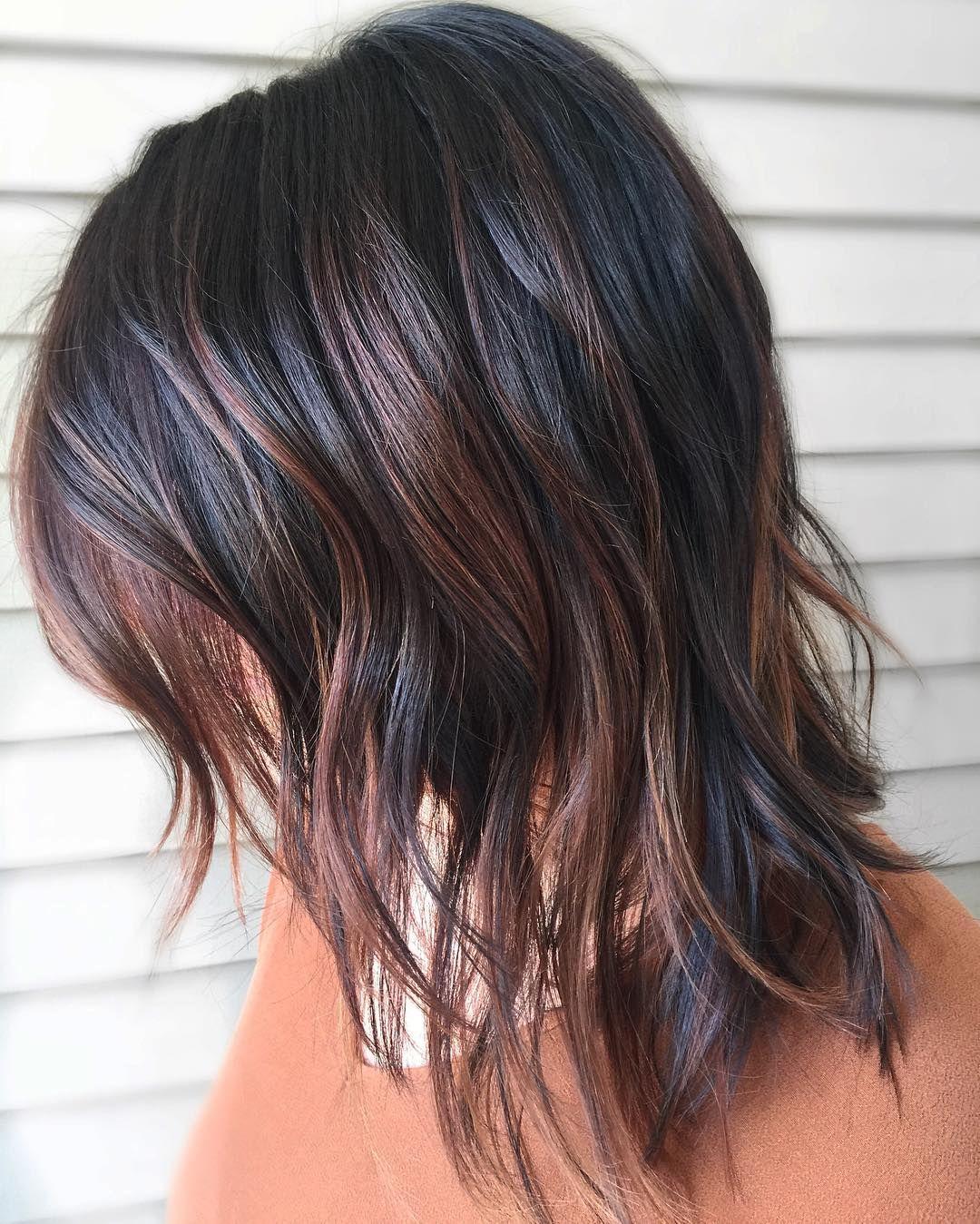 Nice 65 Phenomenal Dark Hair With Highlights Flattering Streaks