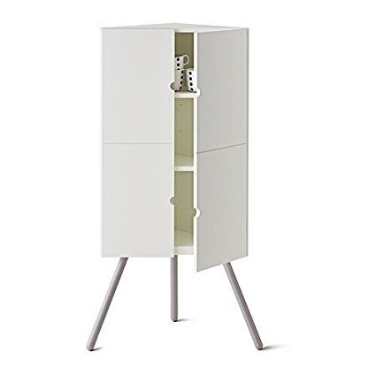 Ikea Ps 2014 Eckschrank In Weiss 47x110cm Amazon De Kuche Haushalt Eckschrank Weiss Ikea Ps Eckschrank