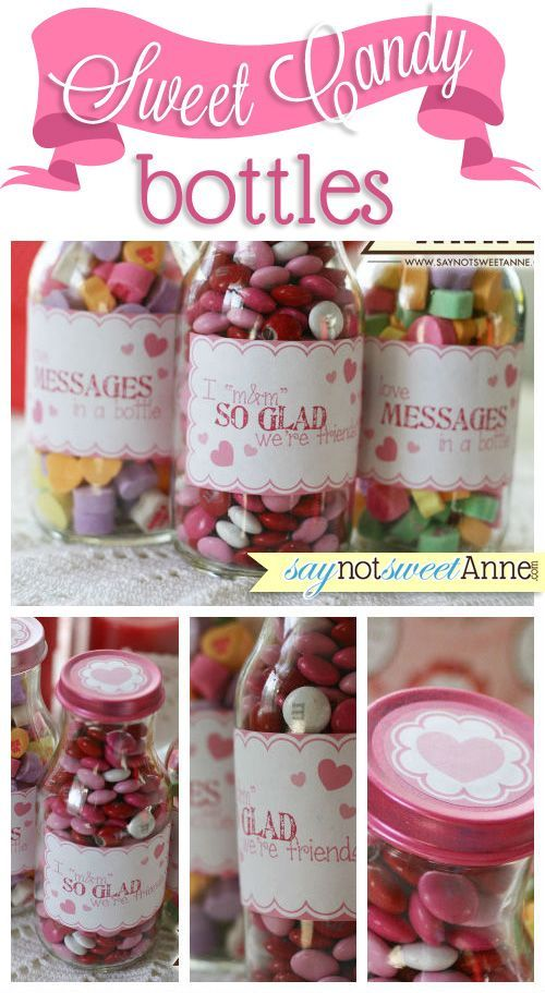 Sweet Candy Bottles - free printable labels for mason jars or re-used coffee bottles! | saynotsweetanne.com
