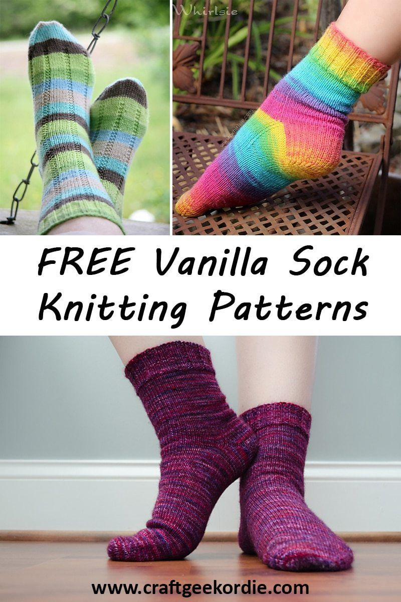 FREE Easy Vanilla Sock Knitting Patterns - Craft, Geek or ...