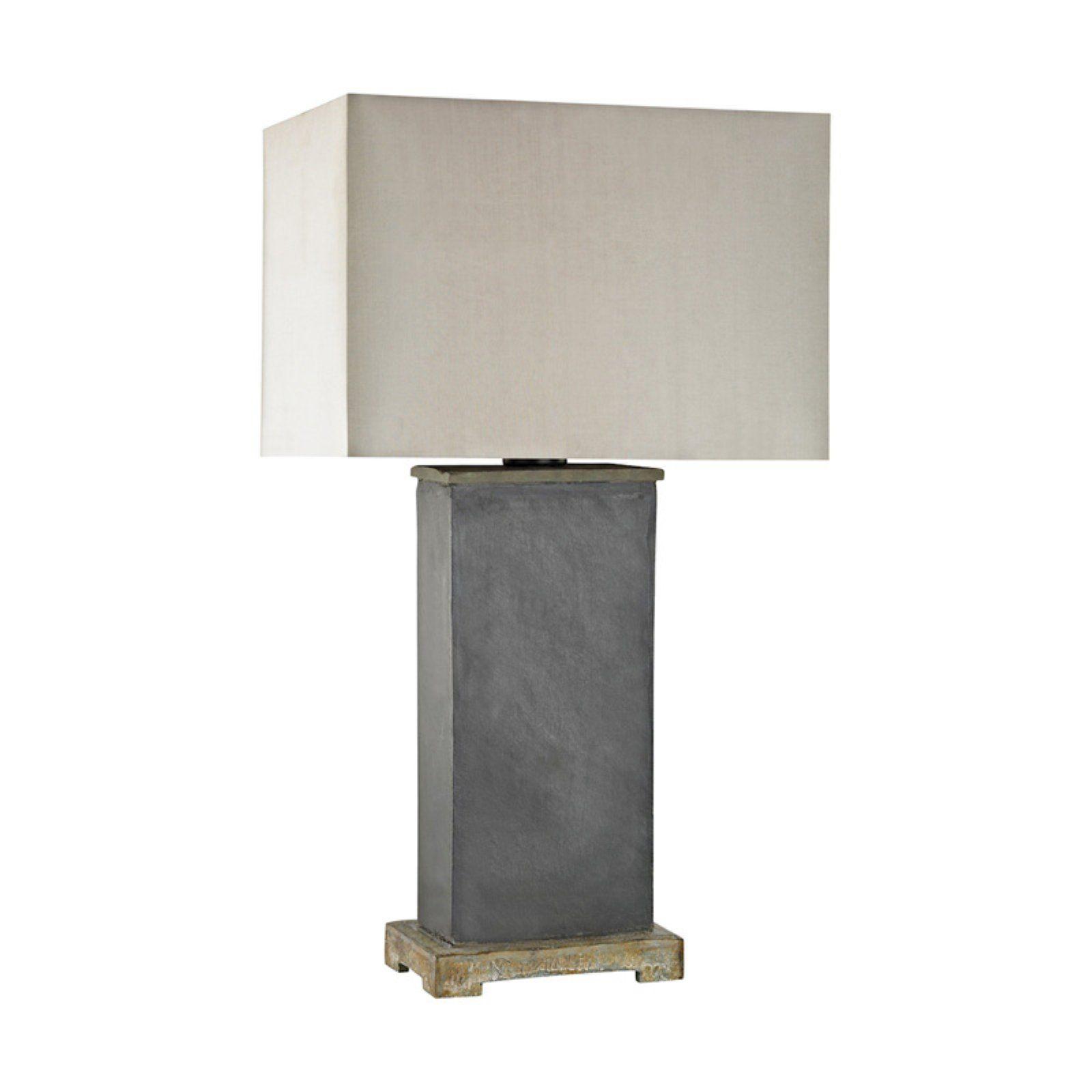 Dimond Lighting Elliot Bay Outdoor Led Table Lamp Grey Table