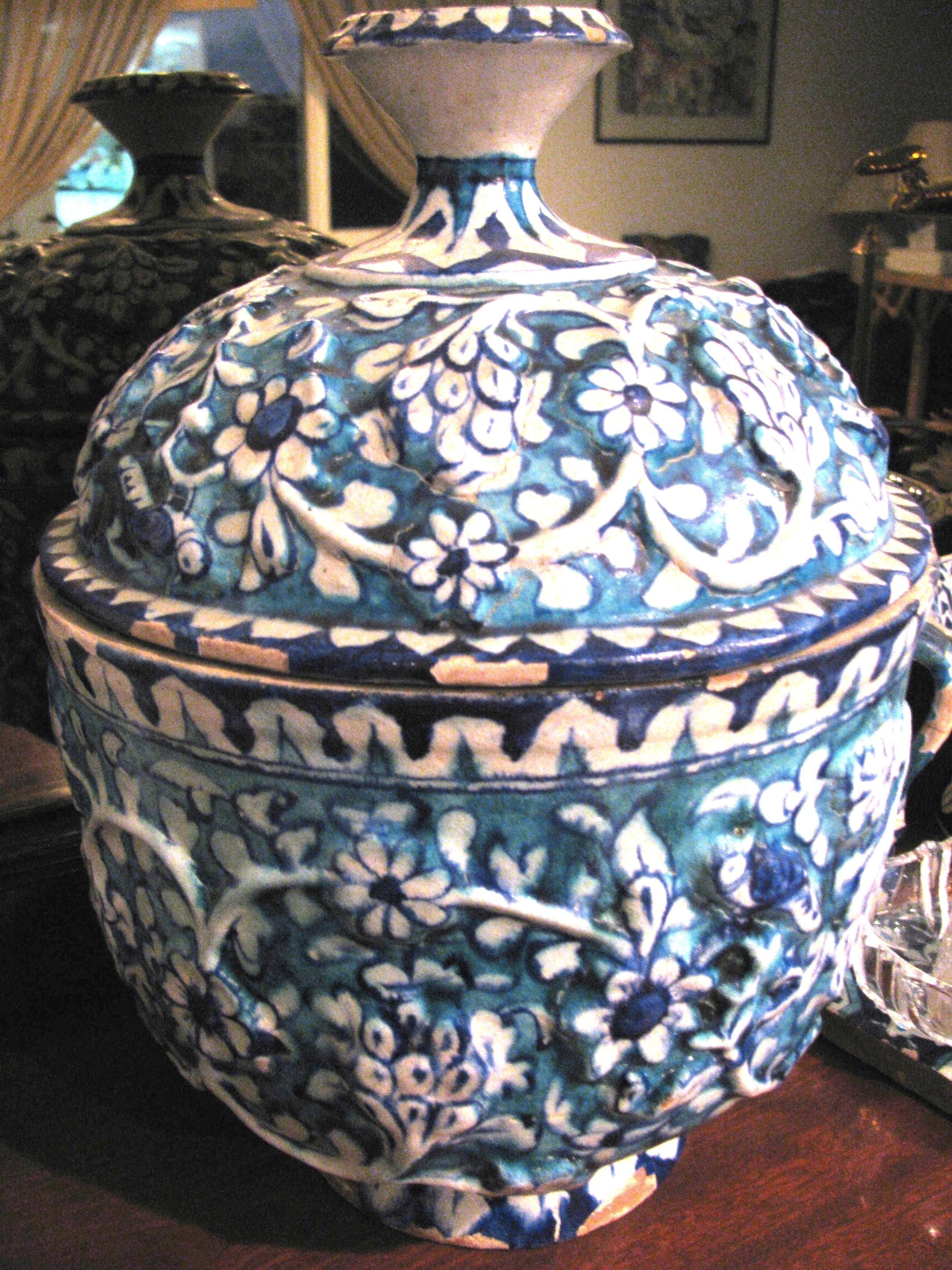 Traditional Blue Pottery Multan Pakistan Blue Pottery White Pottery Pottery