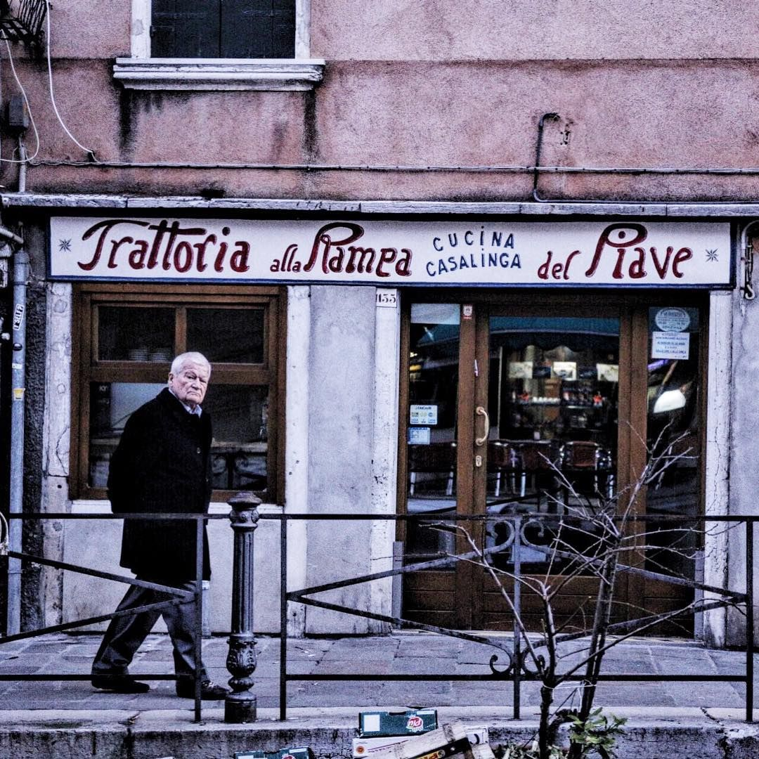Thenostalgictraveller On Instagram The Nostalgic Trattoria Alla Ramea Venice Italy Vsco Vscocam Venice People Photography Old Signs Restaurant Signs