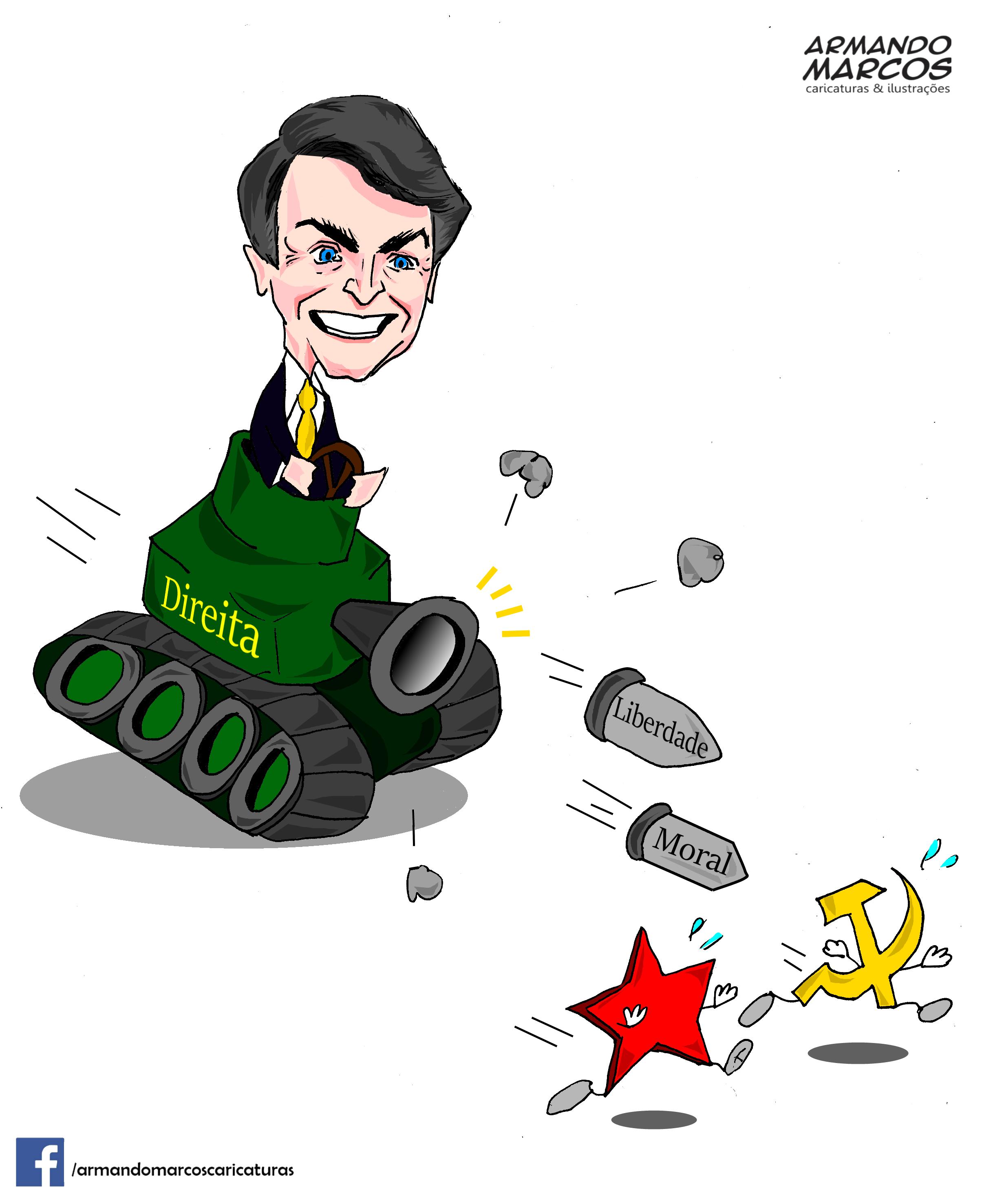 Jair Bolsonaro, pela direita contra as estrelas da esquerda