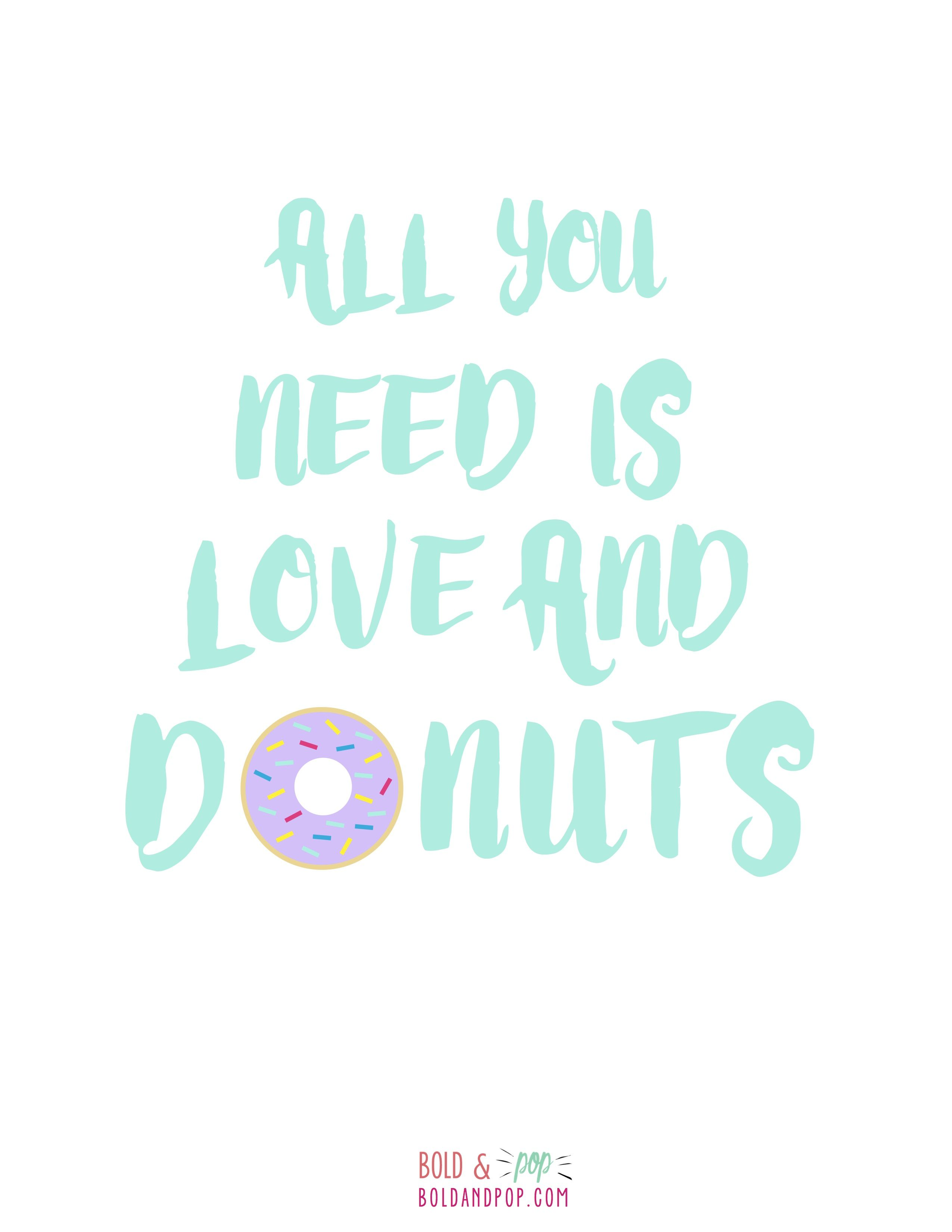 Digital Download Doughnut Printable Note Cards Hand Drawn Art Prints INSTANT DOWNLOAD Donut Birthday Colored Pencil
