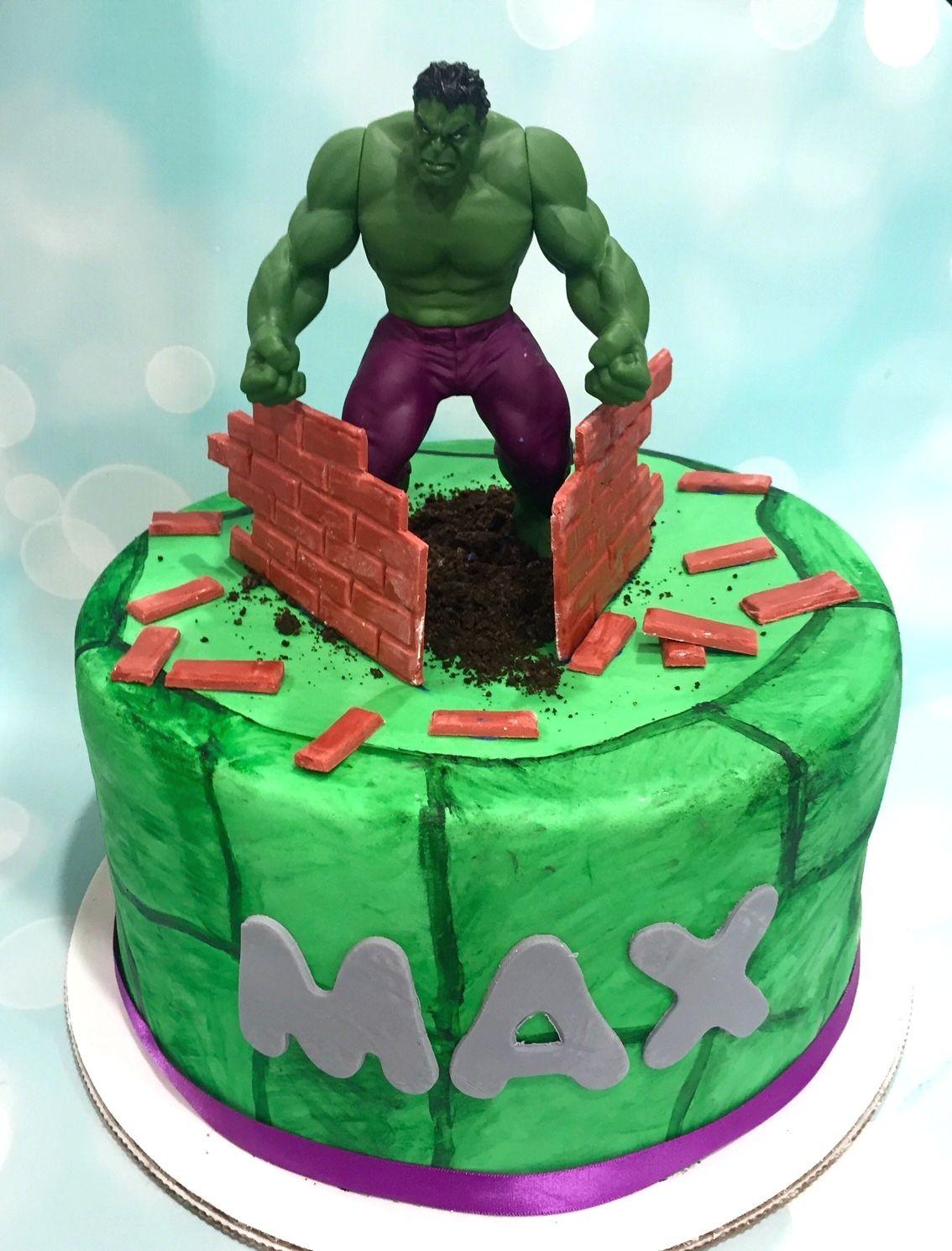 Hulk birthday cake cookie bakery cake superhero