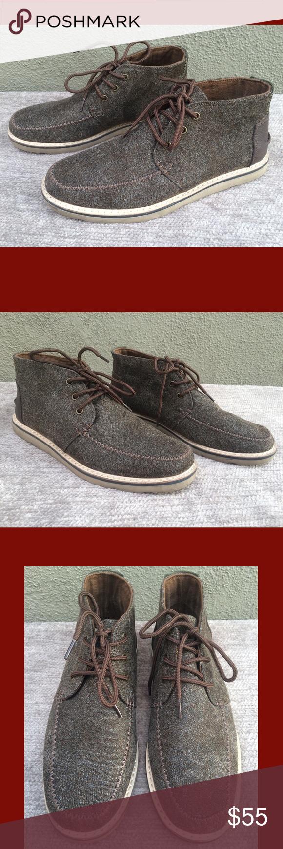 0d123de44d0 Toms Chocolate Brown Brushed Wool Chukka Boots Toms Chocolate Brown Brushed  Wool Lace-Up Chukka