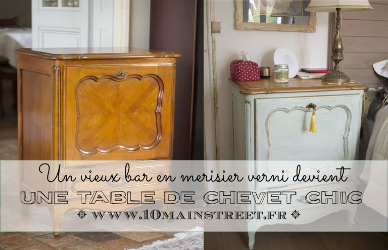 Peindre Un Meuble En Merisier Relooker Meuble Mobilier De Salon