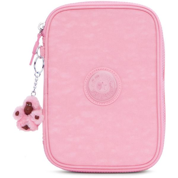 2b5e7cf80 Kipling 100 Pens Case found on Polyvore featuring polyvore, home, home  decor, office accessories, scallop pink, kipling pencil case, pink office  accessories ...
