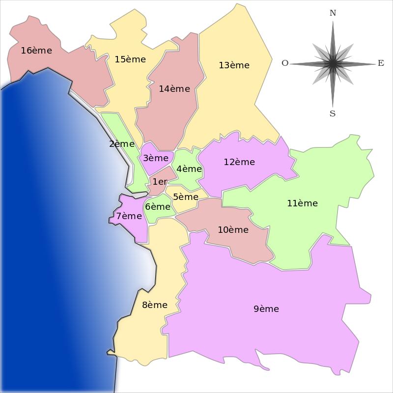 carte des arrondissements de marseille Carte des arrondissements de Marseille Ces arrondissements