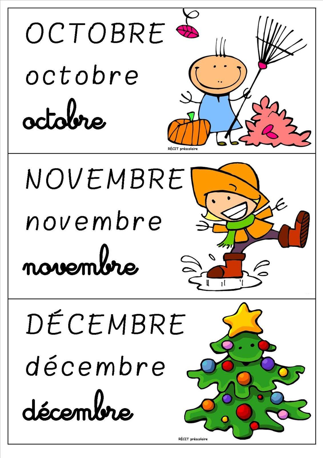 La classe de Laurène: Les mois de l'année | La maternelle ...