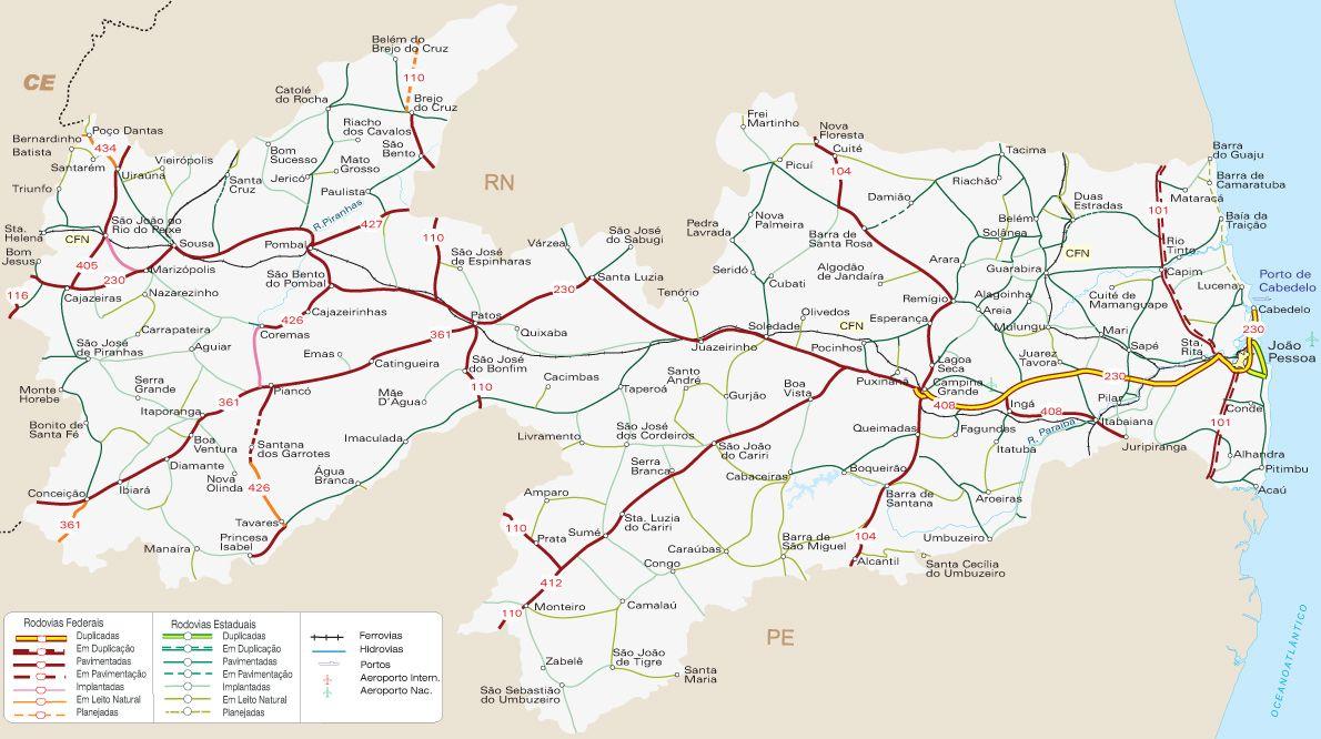 Mapas Geograficos Da Paraiba Com Imagens Mapa Paraiba Joao