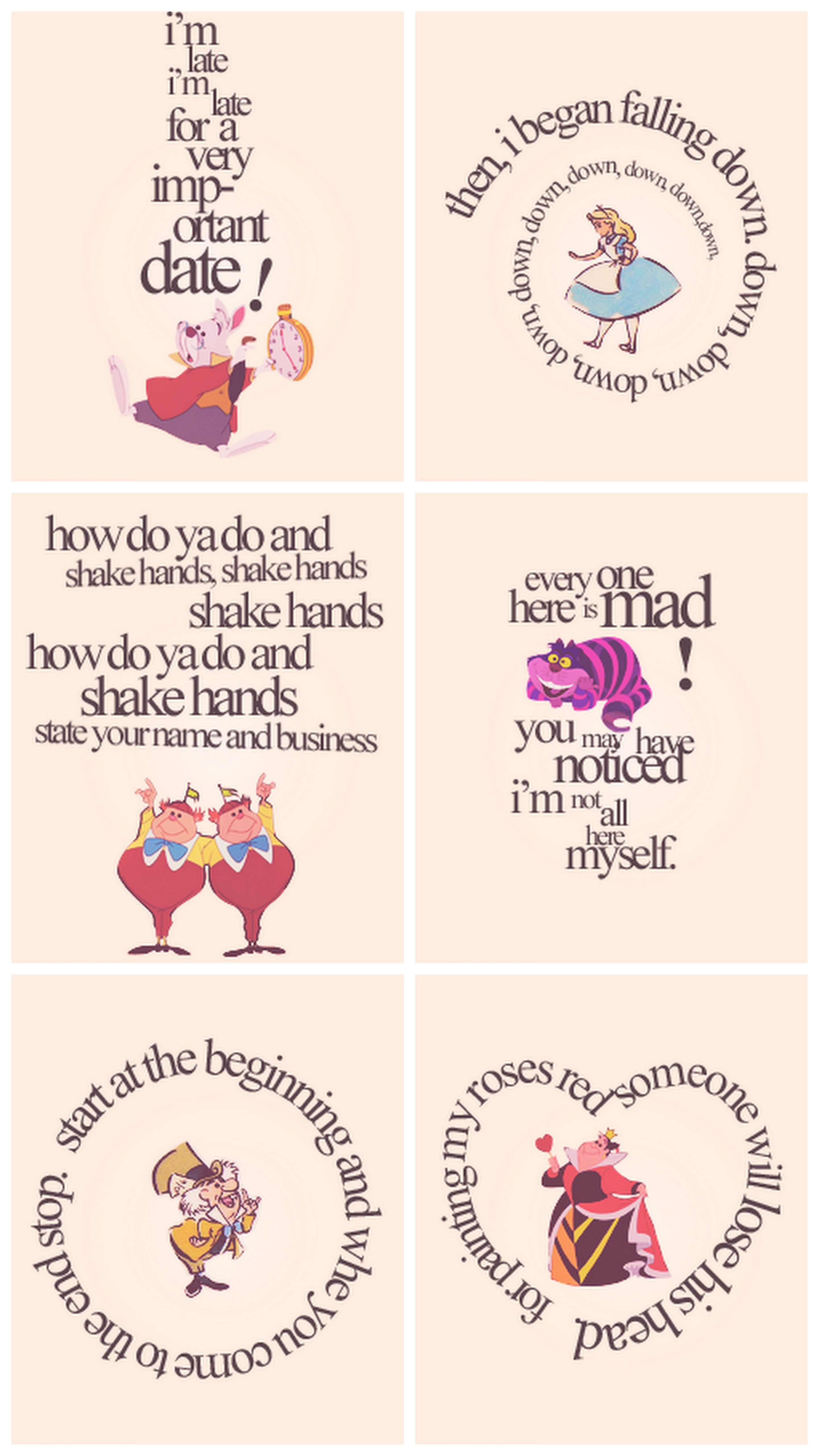Alice In Wonderland Quotes Can Put These In Cheap Ikea Frames For Decoration  Adelyn Bday