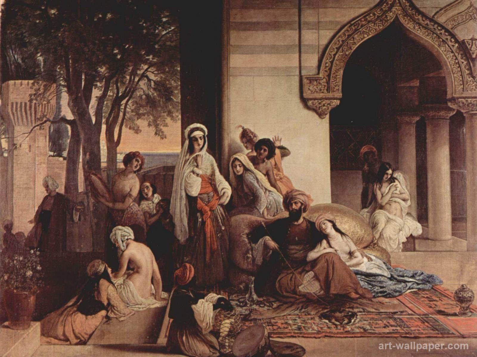 The new favorite (Harem scene), 1866 Francesco Hayez