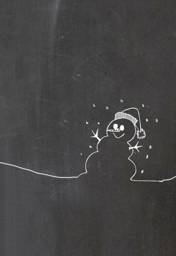 Happy Snowman Christmas Chalkboard Art Chalkboard Art