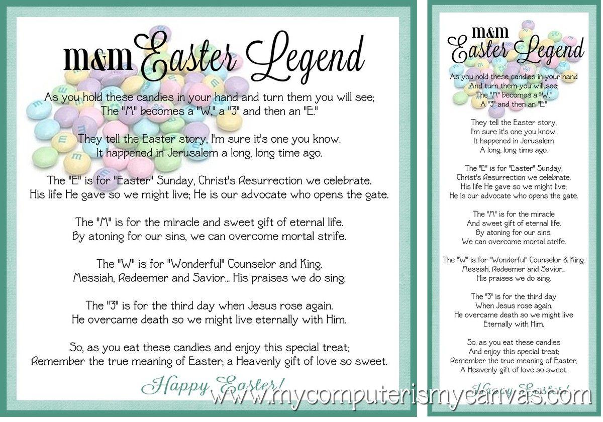 Freebie mm easter legend bookmark tag easter free printable free printable m easter legend poem so cute negle Choice Image