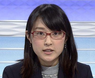近江友里恵アナウンサーのメガネ