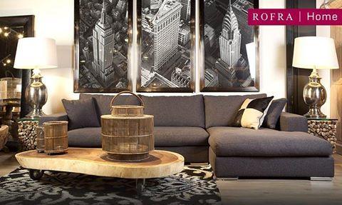 Sfeervolle woonkamer met unieke wanddecoratie. | Rofra Home ...