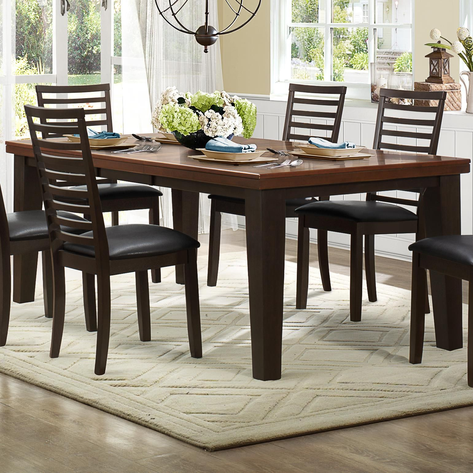 Walsh Rectangle Dining Table With Butterfly Leafhomelegance Delectable Rectangle Dining Room Tables Decorating Inspiration
