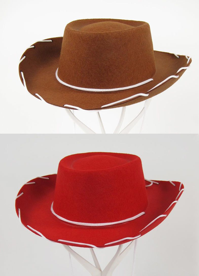 a5402408 Child Western Toy Story Cowboy Woody Jessie Costume 1950S Style Hat Brown  Red