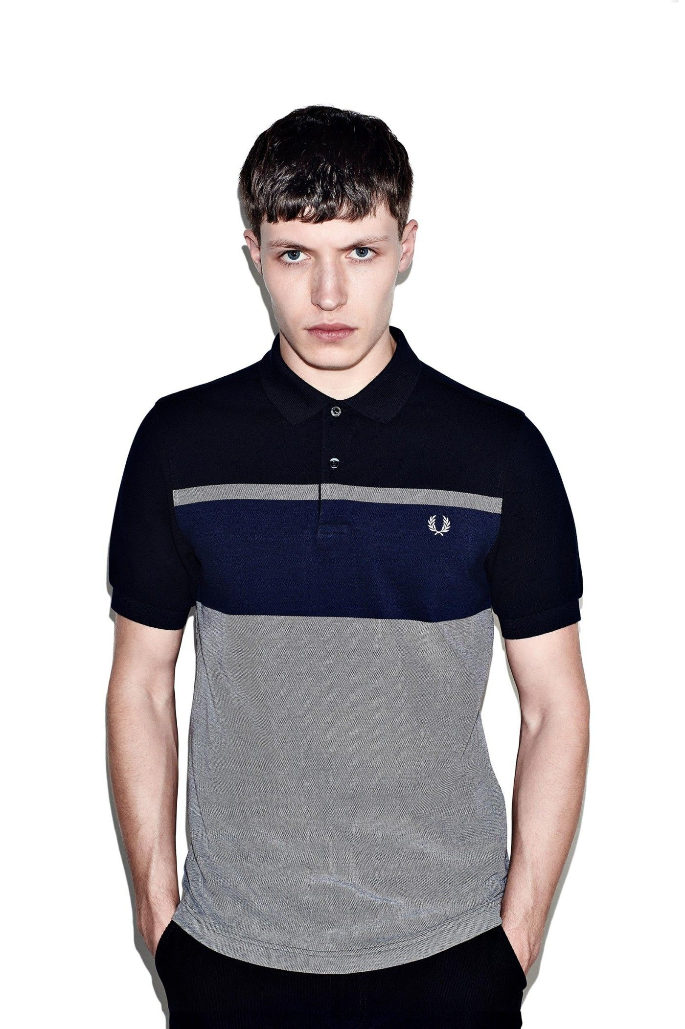 f424199c6 Fred Perry - Oxford Stripe Pique Shirt Navy
