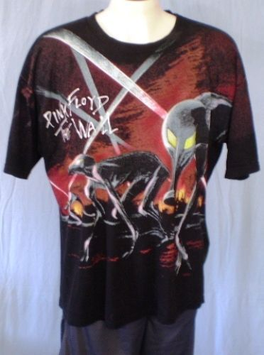 7c599191 Pink Floyd Black XL T-Shirt The Wall Movie 1982 Vintage Cotton  #WinterlandProductions #GraphicTee
