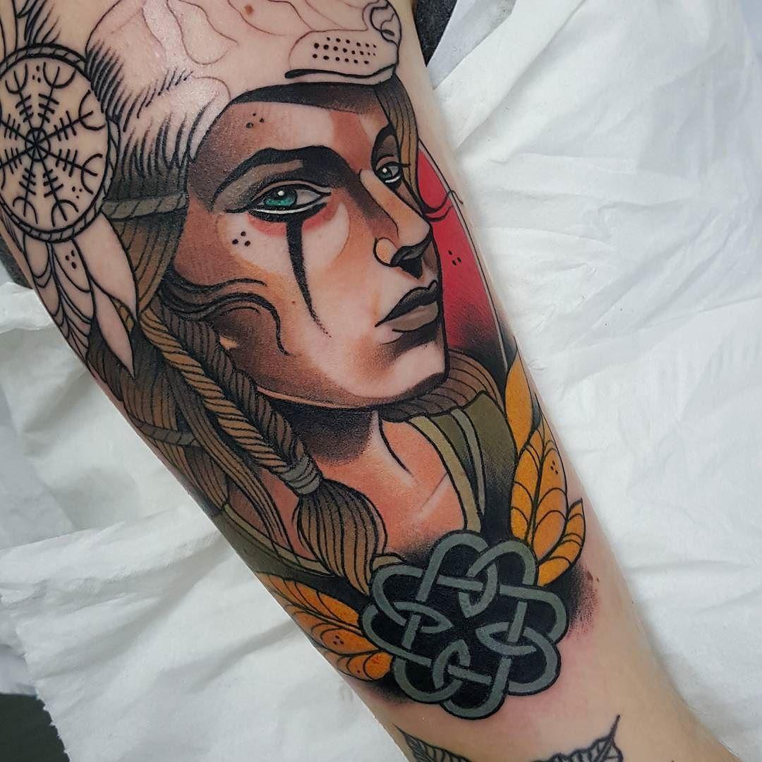 "399e3197e 4,086 Likes, 41 Comments - Toni Donaire Tattoo (@tdonaire) on Instagram:  ""Viking girl in progress. Gracias @paulacruz6 💪💪 #revolutionneedles  #killerink ..."