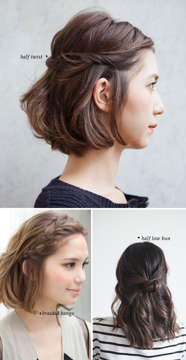 Fashonable Updo Hairstyles For Short Hair Peinados Cortos