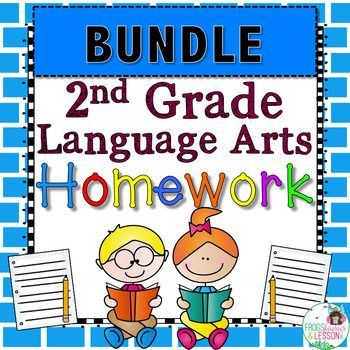 This Language Arts Homework for 2nd Graders provides a weekly spiral review of skills in Reading Foundations, Writing, and Language (Vocabulary Acquisition and Usage and Conventions of Standard English). It is  Common Core Aligned.  To try a Free 2-week sample of this resource click here The design is child friendly and inviting while packed with real work.