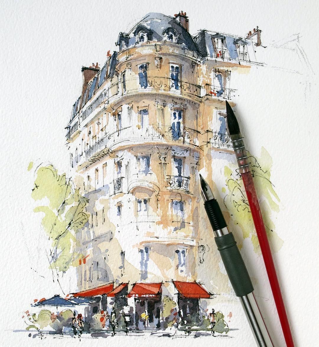 Sketching The Wonderful Cafe Francais Paris Paris