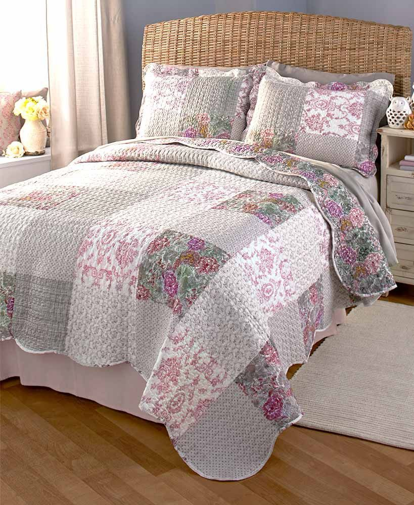 Quilt Amp Sham Set Floral Cottage French Country Shabby Chic