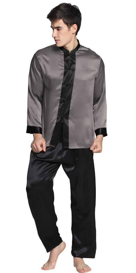 4cf4bd2d39 22 Momme Men Exotic Silk Pajamas Set 100% Pure Silk By LilySilk - XL ...