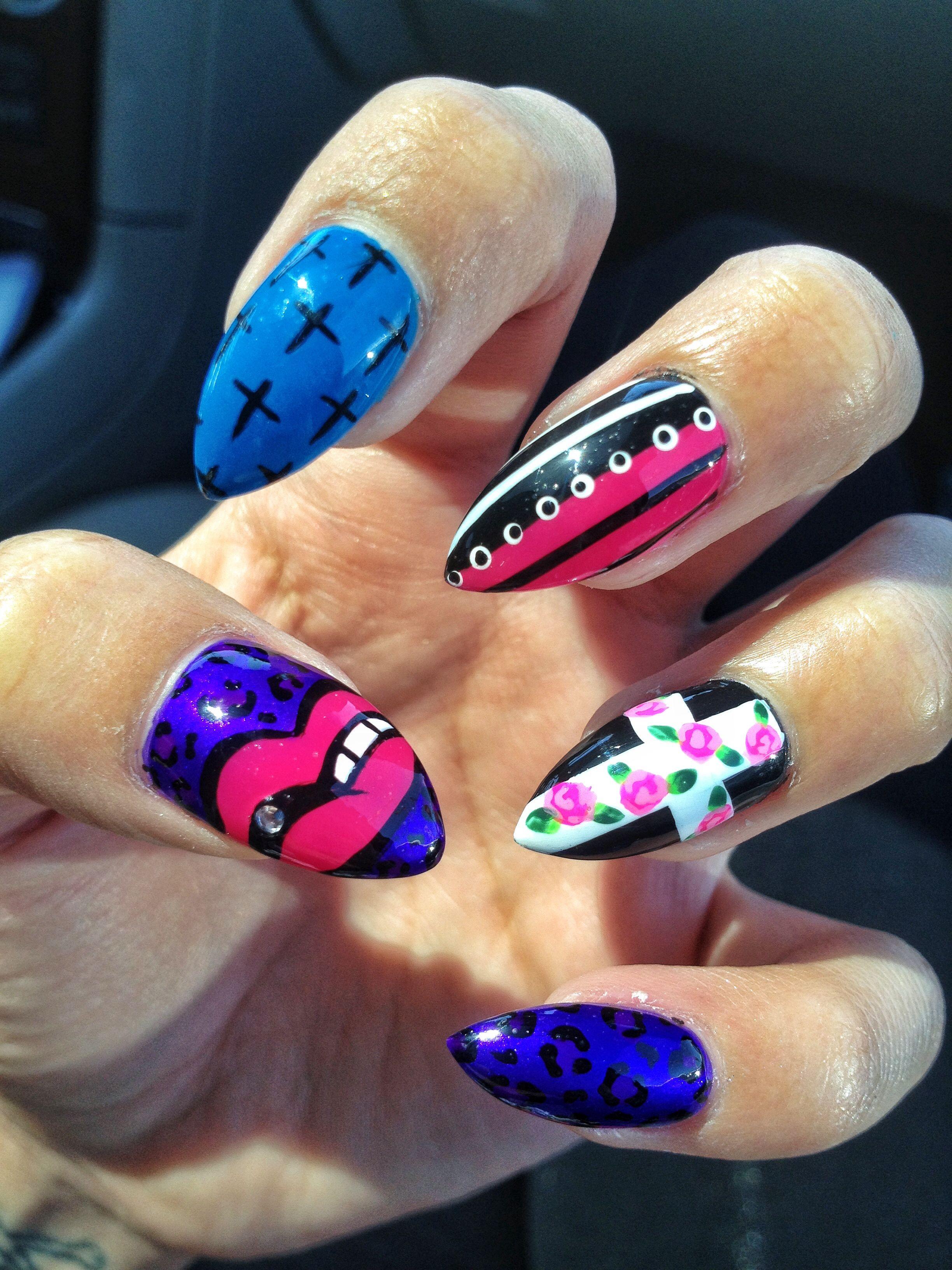 Cross nail art | My clawssss | Pinterest | Cross nail art ...