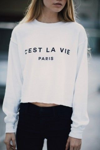 Brandy Melville Cest La Vie Sweatshirt Gphi Merchandise
