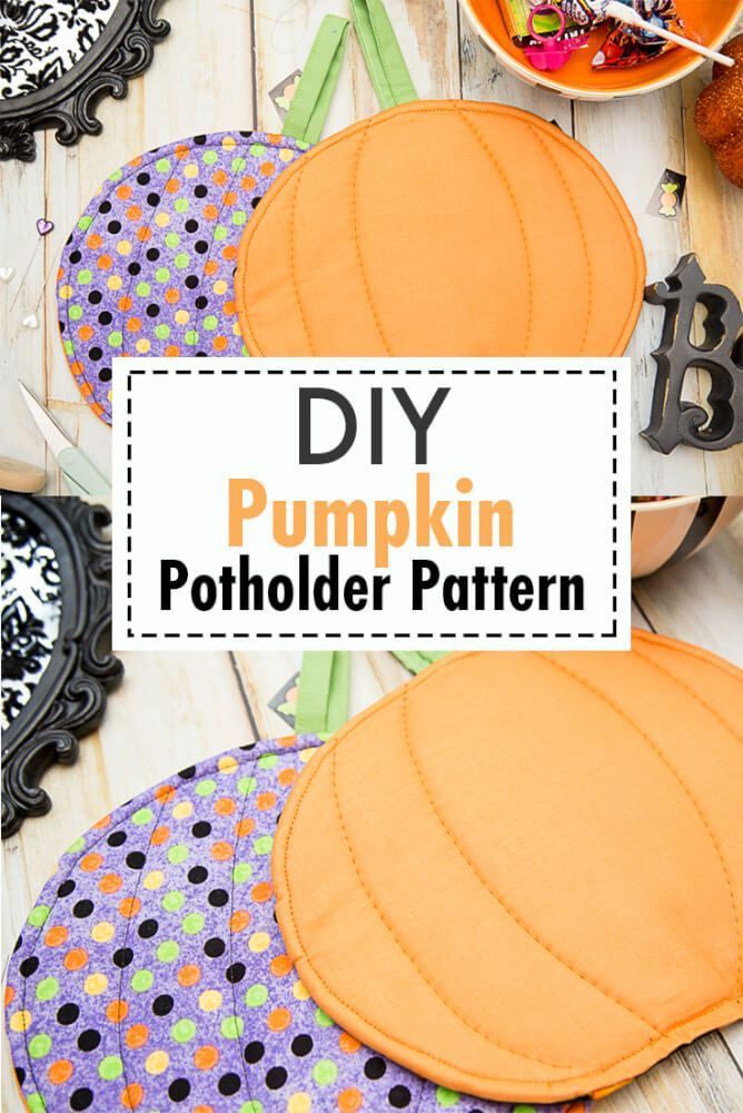 Need an easy Halloween Sewing Project? | Potholders | Pinterest