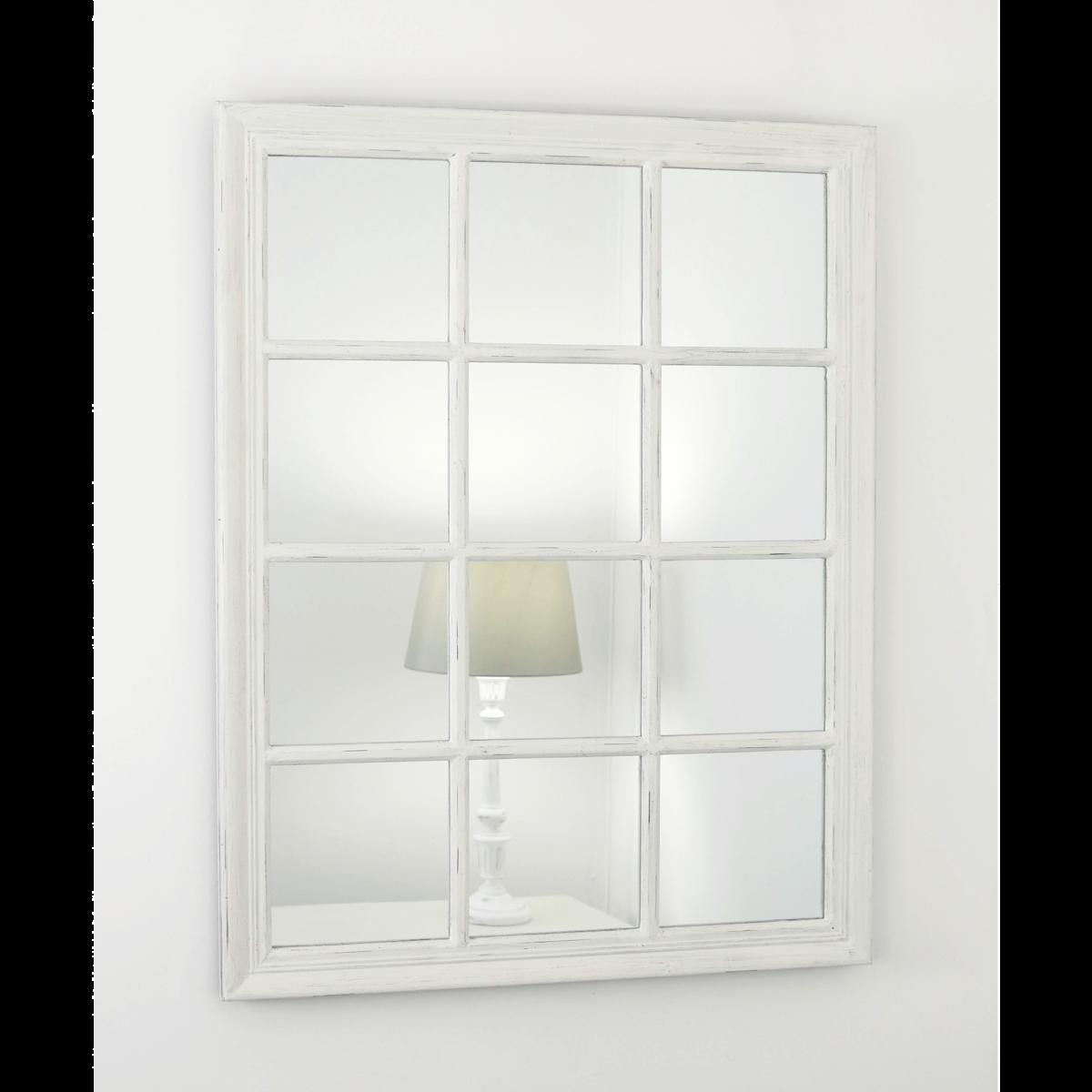 Sasha Vintage White Shabby Chic Rectangular Window Mirror 39 X 30 100cm X 75cm In 2020 Window Mirror Vintage Bathrooms Bathroom Mirror Storage