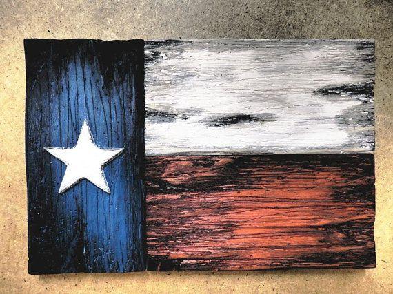 Texas Flag Wall Art One Of A Kind Wooden Vintage Home Decor Etsy Flag Decor Vintage Home Decor Wood Pallet Art