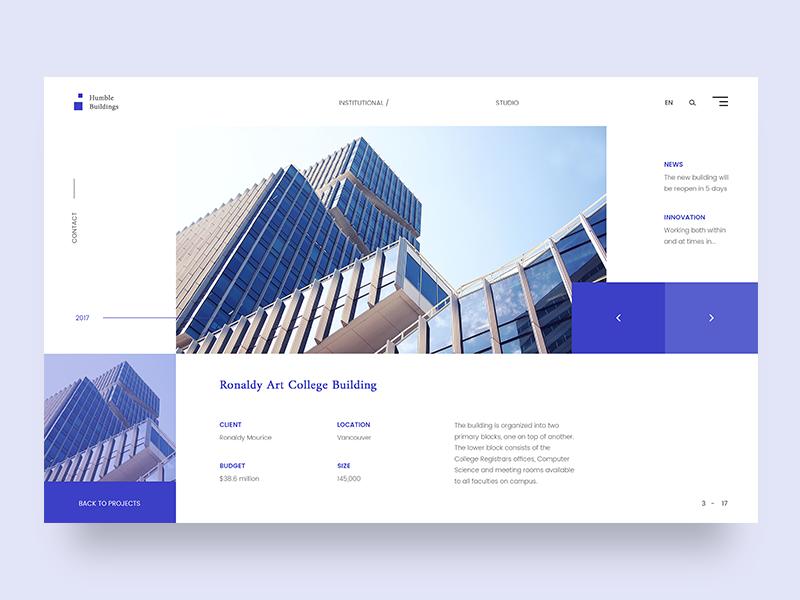 Humble Buildings Architecture #2 Layout | Design: Web | Architecture