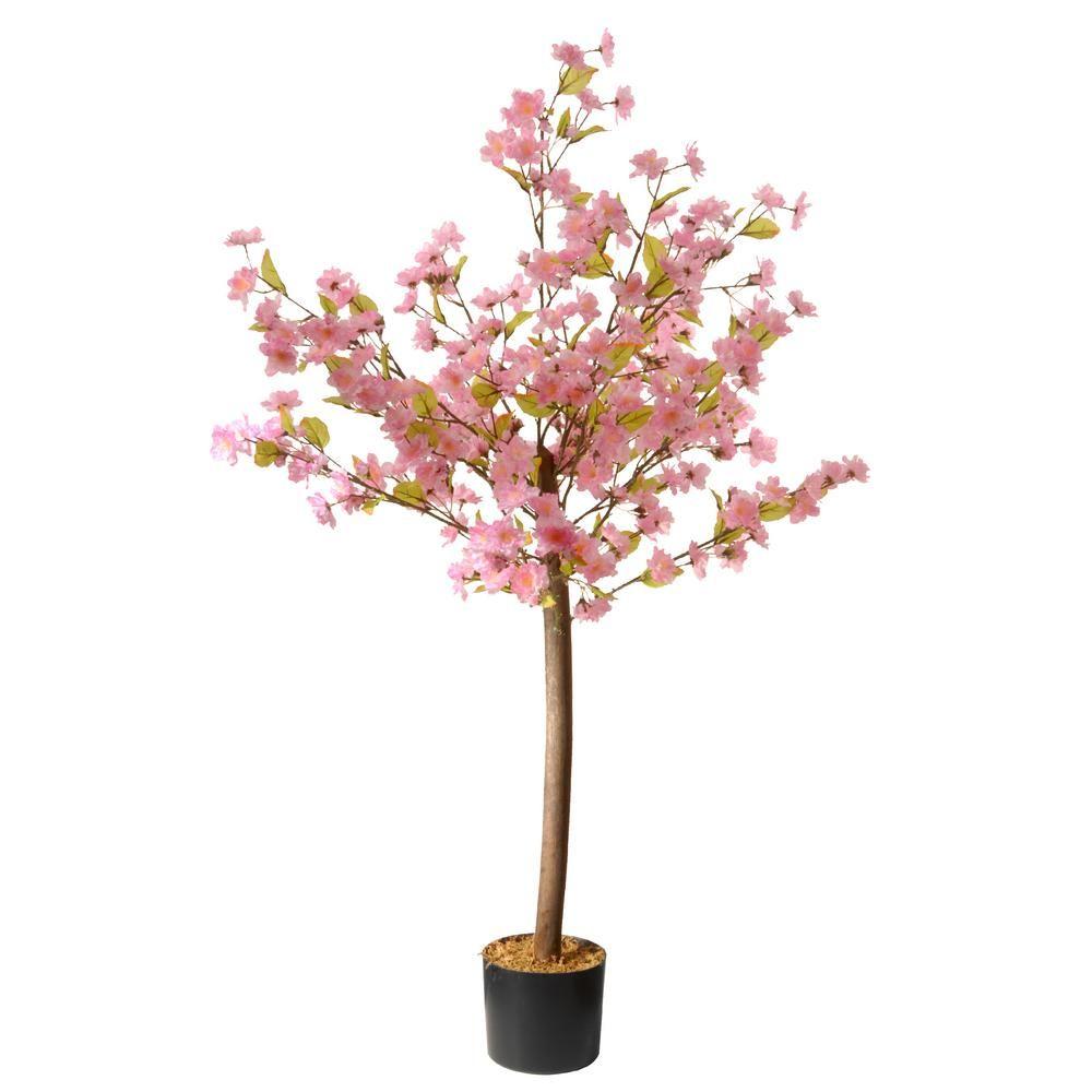 National Tree Company 4 Ft Cherry Blossom Tree Ras 5467 06n The Home Depot Artificial Cherry Blossom Tree Cherry Blossom Tree Artificial Tree