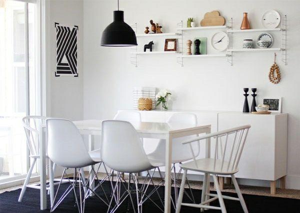 skandinavisches design esszimmer reizende ideen schwarz weiß - wohnzimmer ideen schwarz weis