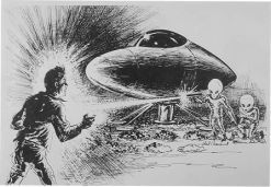 Although some think the April 1964 Socorro UFO sighting was a hoax or a misidentified lunar test probe, other sightings of an almost identical nature seem to show that Lonnie Zamora's observation was of something truly alien.  We've noted here, several times, the La Madeira sighting of April 26, 1964, a few days after Lonnie Zamora's iconic encounter.  Then there is the July 1st 1965 Valensole, France sighting which is virtually identical to the Zamora/Socorro sighting.