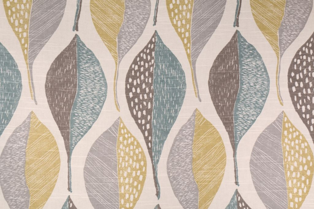 10 6 Yards Robert Allen Woodblock Leaf Printed Cotton Drapery Fabric In Rain Drapery Fabric Outdoor Upholstery