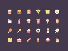 food icons by Rwds #Design Popular #Dribbble #shots