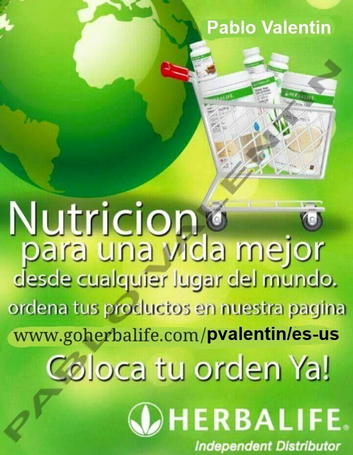 para hacer sus compras por internet visite mi pagina wep www.VisiteHerbalife.com/pvalentin/es-US