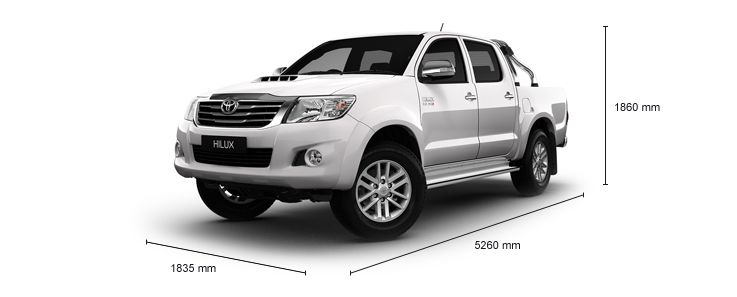 HiLux Specifications Double Cab 4x4 SR5 Pickup Diesel Manual