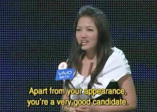 Funny chinese dating show