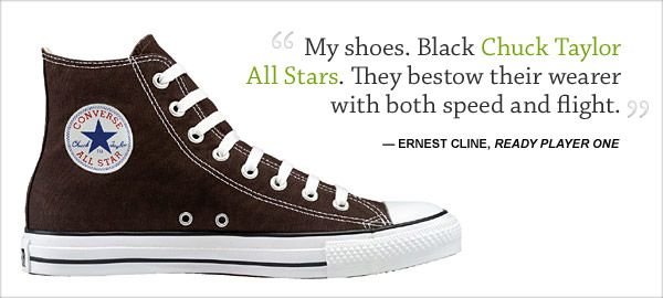 Replacing My Converse Pure Geekery Ready Player Two Ready Player One Black Chuck Taylors