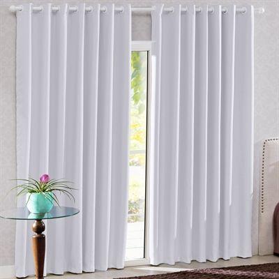 Cortina para var o bella janela 300x230 cm tecido corta luz branco r 219 99 casa fl via - Comprar cortinas barcelona ...